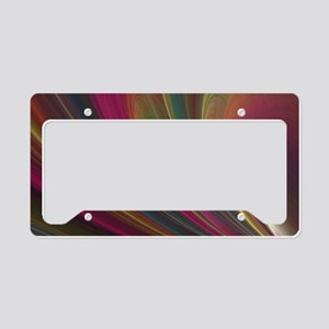 Fractal Colorful Art License Plate Holder